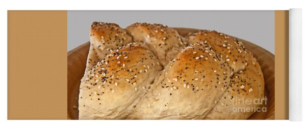 Fresh Challah Bread Art Prints Yoga Mat