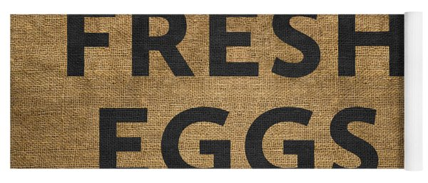 Yoga Mat featuring the digital art Fresh Eggs by Nancy Ingersoll