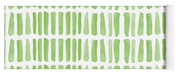 Fresh Grass- Abstract Pattern Painting Yoga Mat