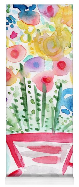 Fresh Picked Flowers- Contemporary Watercolor Painting Yoga Mat