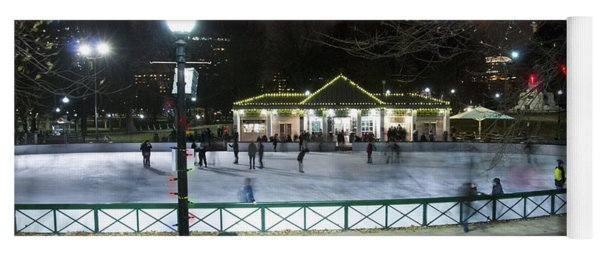 Frog Pond Ice Skating Rink In Boston Commons Yoga Mat