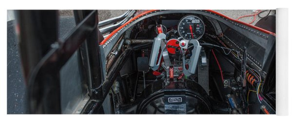 Front Engine Dragster Cockpit Yoga Mat