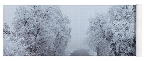 Frozen Trees Yoga Mat