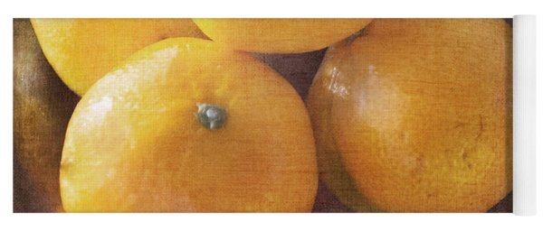 Fruit Still Life Oranges And Antique Silver Yoga Mat
