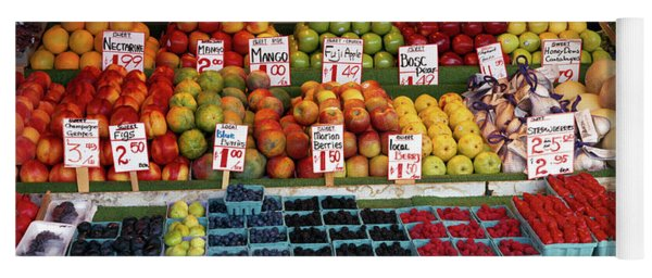 Fruits At A Market Stall, Pike Place Yoga Mat