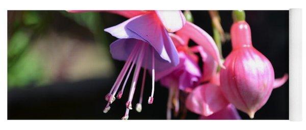 Fuchsia Flower Yoga Mat