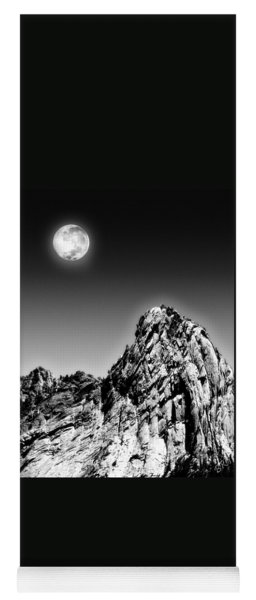 Full Moon Over The Suicide Rock Yoga Mat