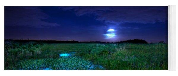 Full Moons And Fireflies Yoga Mat