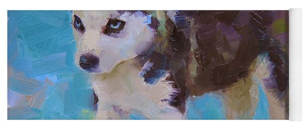 Alaskan Husky Sled Dog Puppy Yoga Mat