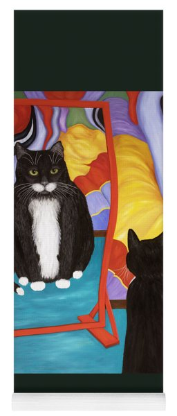 Fun House Fat Cat Yoga Mat