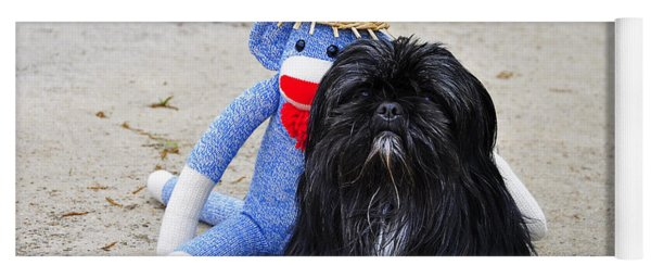 Funky Monkey And Sweet Shih Tzu Yoga Mat