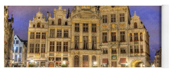 Gabled Buildings In Grand Place Yoga Mat