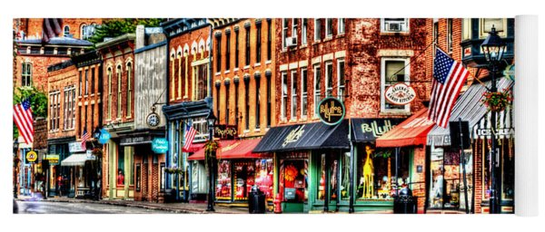 Galena Main Street Early Summer Morning Yoga Mat