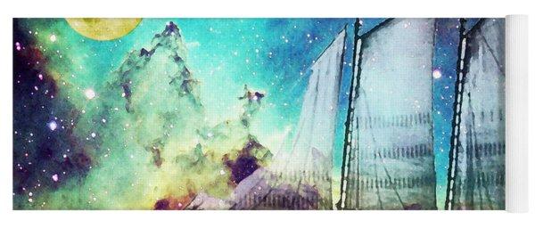 Galileo's Dream - Schooner Art By Sharon Cummings Yoga Mat