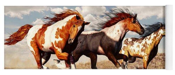 Galloping Mustangs Yoga Mat