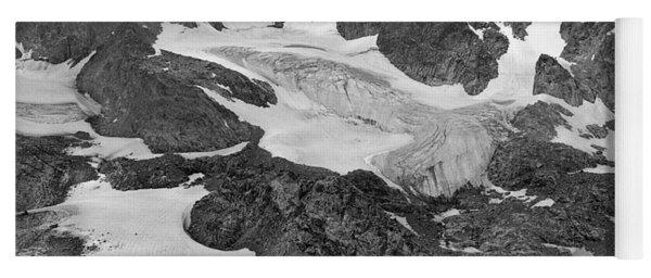 509427-bw-gannett Peak And Gooseneck Glacier, Wind Rivers Yoga Mat