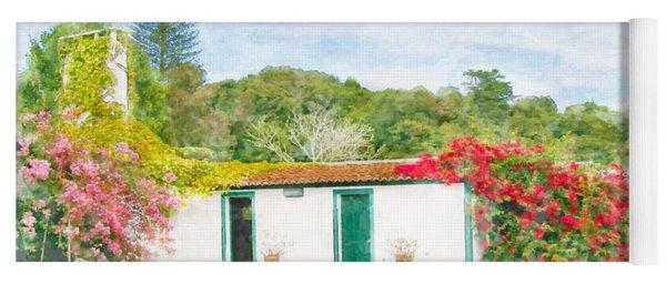 Garden Watercolor Painting Yoga Mat