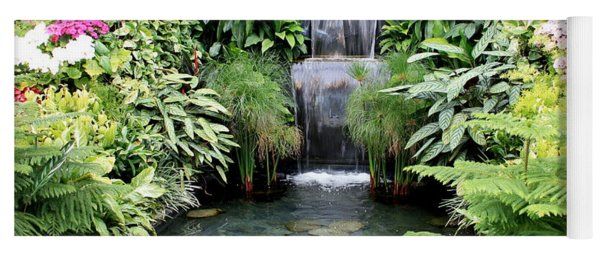 Garden Waterfall Yoga Mat