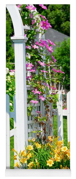 Garden With Picket Fence Yoga Mat