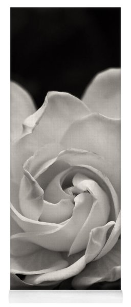 Gardenia Bloom In Sepia Yoga Mat