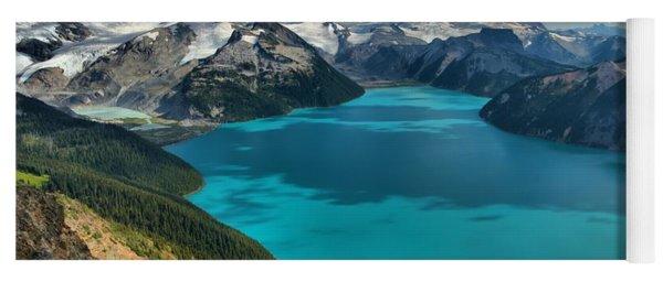 Garibaldi Lake Blues Greens And Mountains Yoga Mat