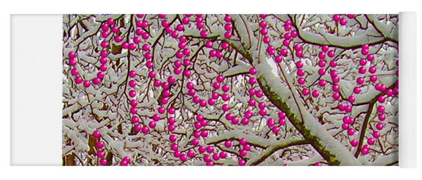 Garlands In The Snow Yoga Mat