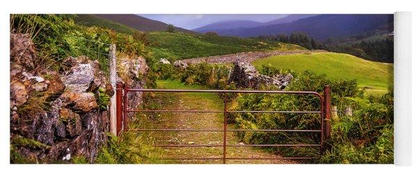 Gates On The Road. Wicklow Hills. Ireland Yoga Mat