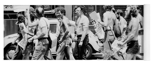Gay Rights Demonstration During The Democratic National Convention In Nyc - 1976 Yoga Mat