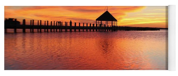 Gazebo's Sunset Reflection Yoga Mat