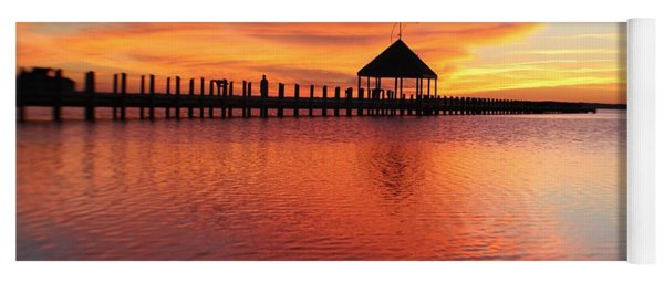 Gazebo's Sunset Reflection Yoga Mat