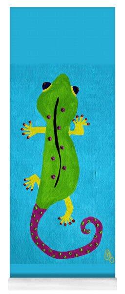 Yoga Mat featuring the painting Gecko Gecko by Deborah Boyd