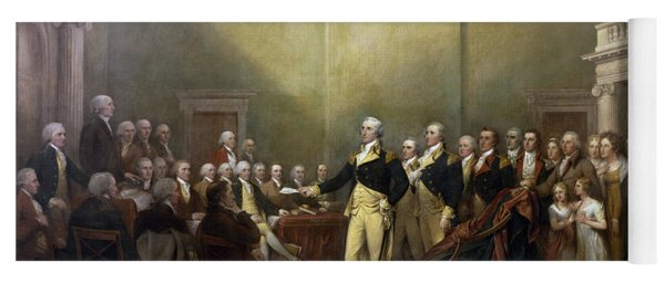 General George Washington Resigning His Commission Yoga Mat