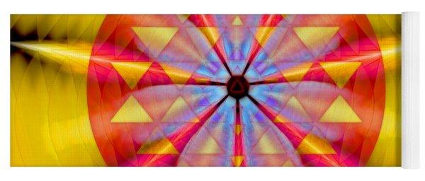 Geo-cosmic Sri Yantra Yoga Mat