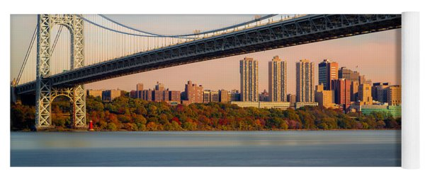 George Washington Bridge In Autumn Yoga Mat