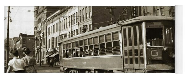 Georgetown Trolley E Market St Wilkes Barre Pa By City Hall Mid 1900s Yoga Mat