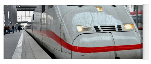 German Ice Intercity Bullet Train Munich Germany Yoga Mat
