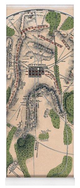 Gettysburg Battle Map 1863 - Civil War Yoga Mat