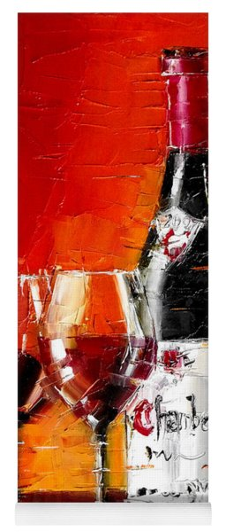 Still Life With Wine Bottle And Glass IIi Yoga Mat