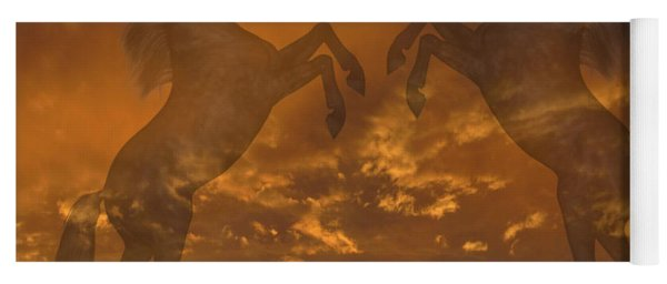 Ghost Horses At Sunset Yoga Mat