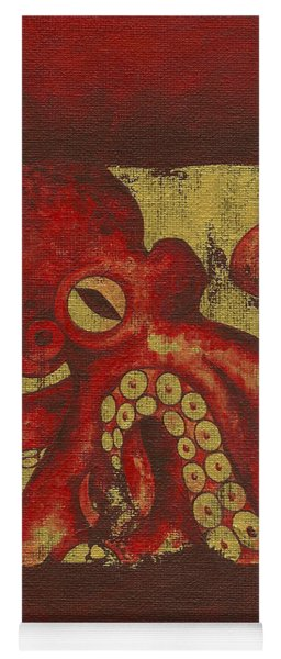 Giant Red Octopus Yoga Mat