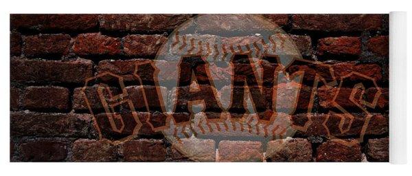 Giants Baseball Graffiti On Brick  Yoga Mat