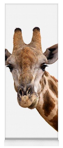 Giraffe Portrait Yoga Mat