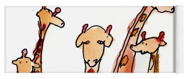 Giraffes Yoga Mat