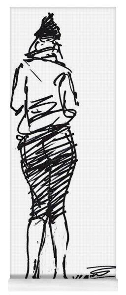 Girl Sketch Yoga Mat