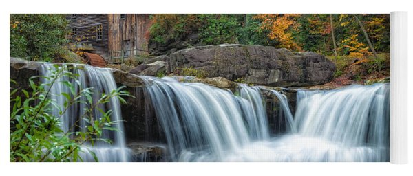 Glade Creek Grist Mill And Waterfalls Yoga Mat