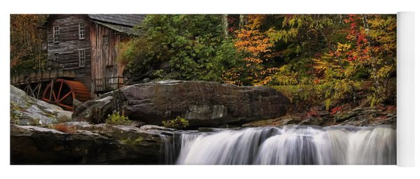 Glade Creek Grist Mill - Photo Yoga Mat
