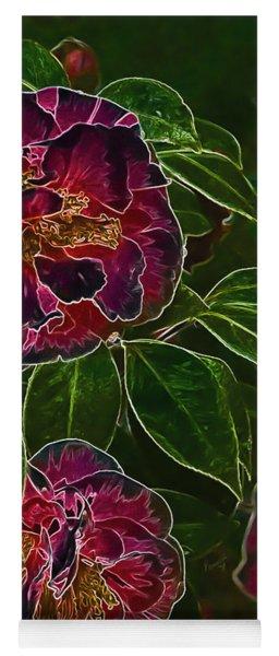Glowing Camellia Yoga Mat