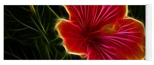 Glowing Hibiscus Yoga Mat