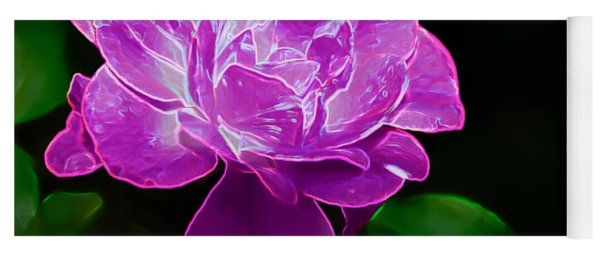 Glowing Rose II Yoga Mat