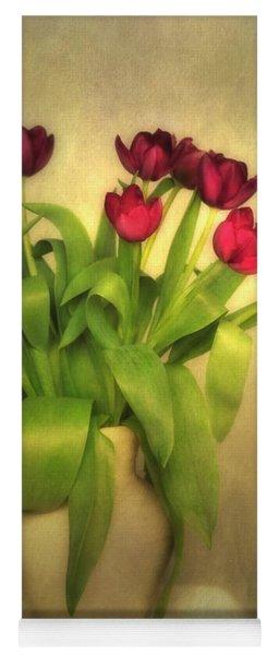 Glowing Tulips Yoga Mat